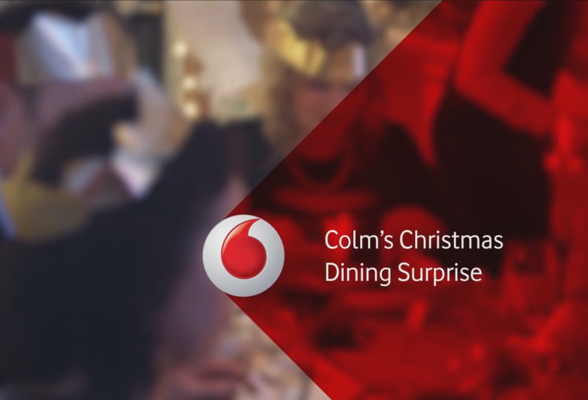 Vodafone #GetCloser – Colm's Christmas Dining Surprise