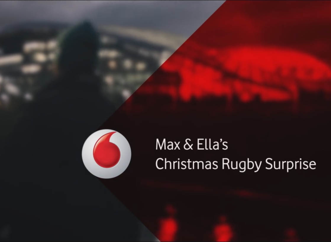 Vodafone #GetCloser – Max and Ella's Rugby Surprise